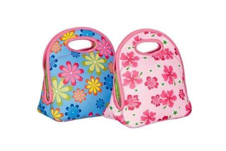 Kids Bags : Go Gourmet Junior Lunch Tote ~ Pink Hibiscus