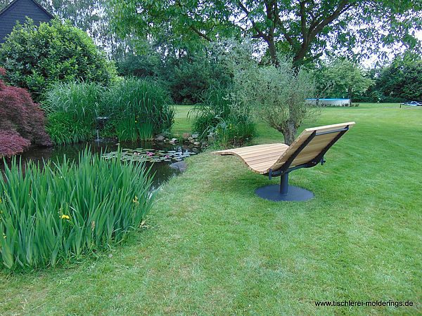 Sonnenliege Sundivan Geneigter Hinterhof Relaxliege Garten Liege Garten