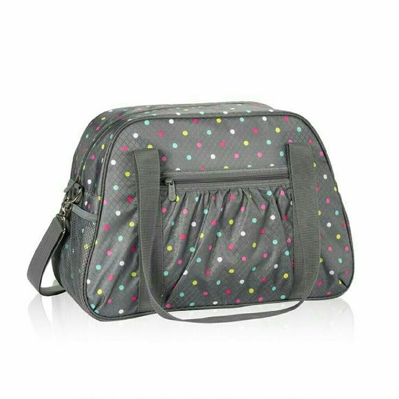 Thirty-one All in Tote Grey w/ Polka Dot New! Thirty-one ...