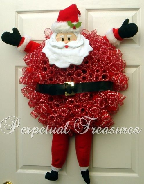 Fat Santa Deco Mesh Wreath with Arms & Legs. Pomona Harvest Festival Dec 4th - 6th 2015. Space #440