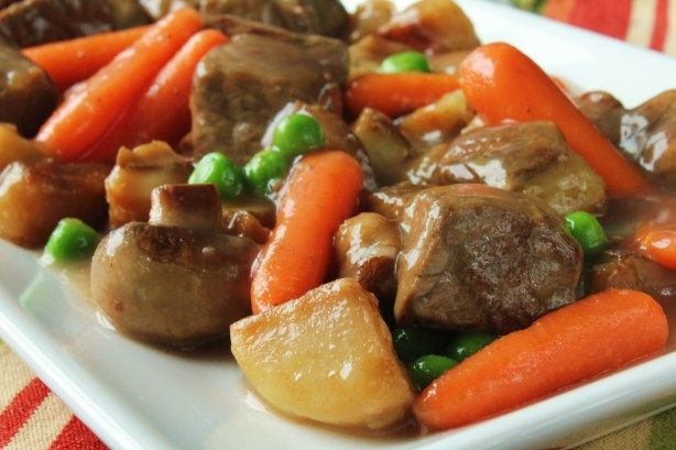 This stew consists of tender pieces of steak sauteed just until rare, then added to an array of vegetables. Its best made with beef tenderloin, although New York strip steak, sirloin tips and skirt steaks can also be used.