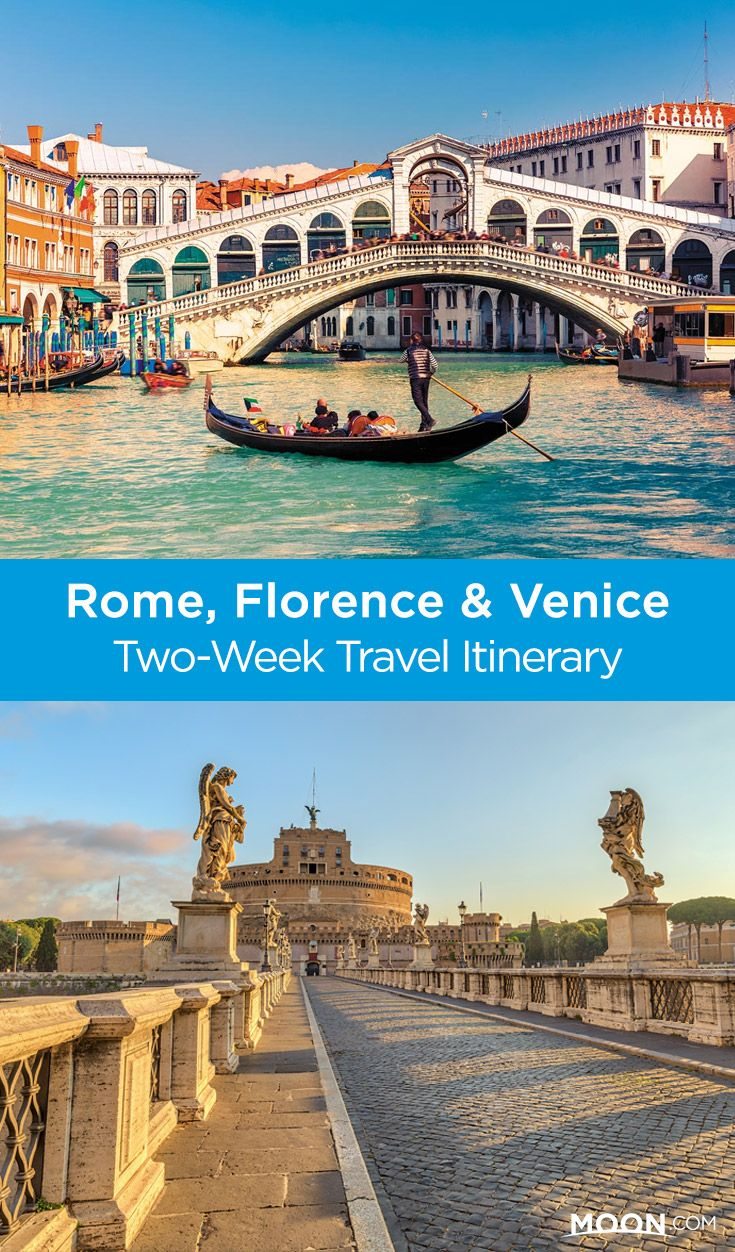 See the best of Italy on a two-week vacation with this itinerary that balances past and present. This Rome-to-Florence-to-Venice travel itinerary allows you to travel from the most populated to the least populated city and from oldest to newest, which can facilitate appreciation and understanding of each. #italy #europe