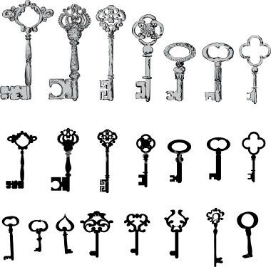 The last quatrefoil keys in the first and second row are interesting. Think about if you want simple lines or shading as well