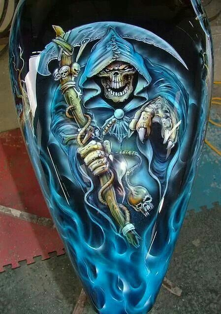 I M Not Into Skulls But This Paint Is Awesome Chickie S