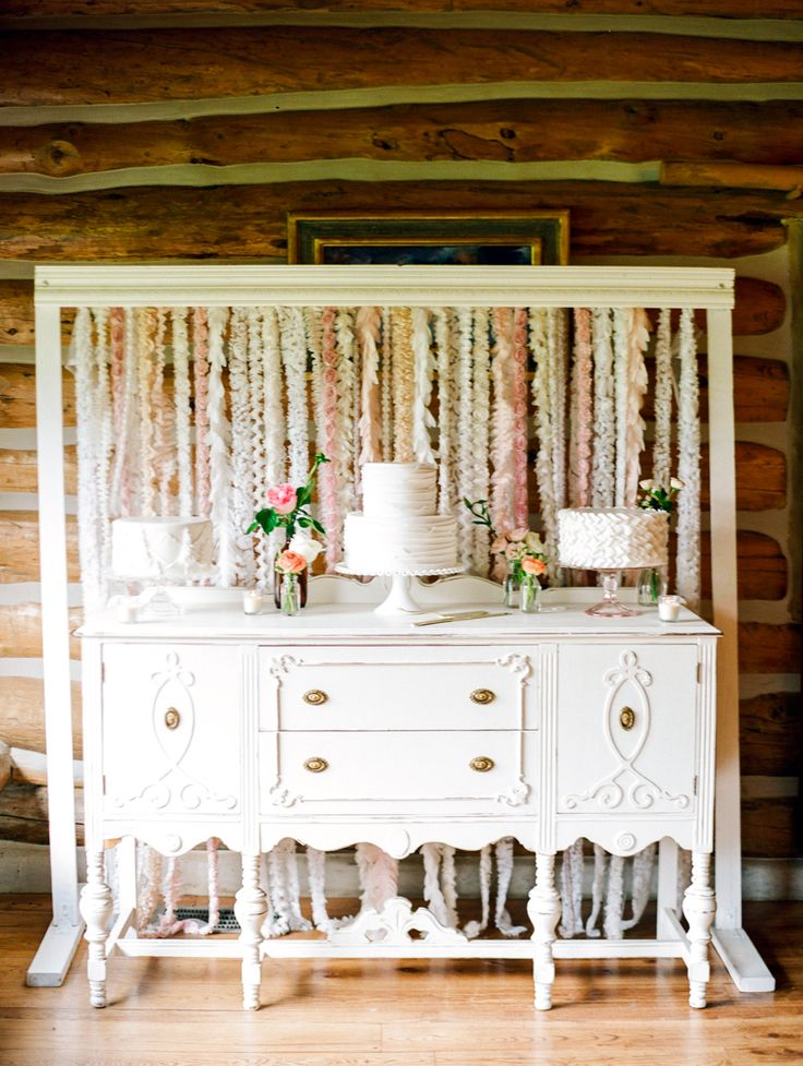 Pastel Wedding Cake Table