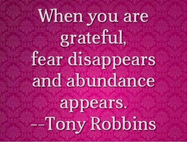 When you are TRULY grateful this happens. When you are not wholeheartedly grateful, not so much.