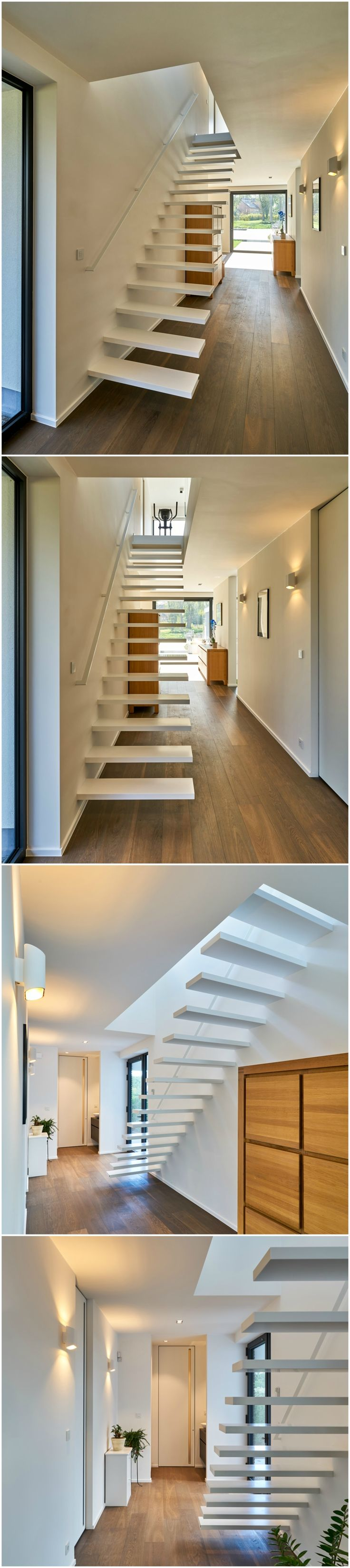 25 beste idee n over moderne trap op pinterest trappen en weegschaal - Model interieur trap ...