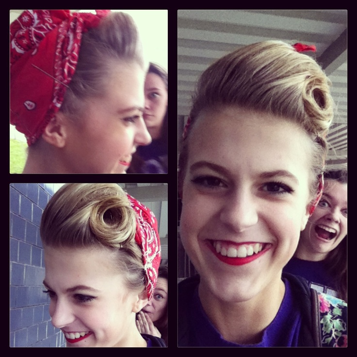 semi mohawk hairstyle : Rosie the riveter, The riveter and Hair on Pinterest