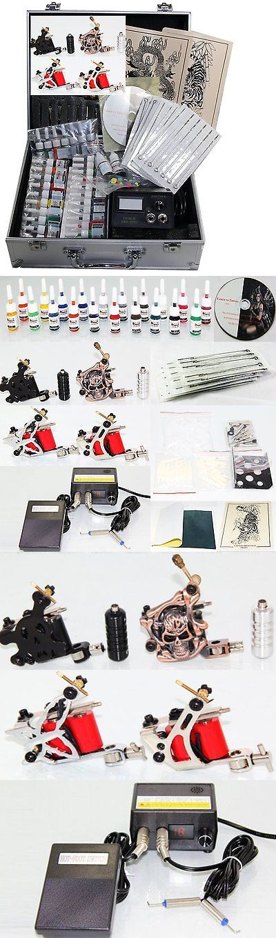 Tattoo Supplies: Professional Tattoo Kit 4 Machine Guns Power Supply Needles 20 Colors Inks G5 -> BUY IT NOW ONLY: $69.99 on eBay!