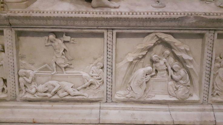 Episodi della vita della Vergine.  Cappella Correale di Terranova nella Chiesa di Sant'Anna dei Lombardi a Napoli