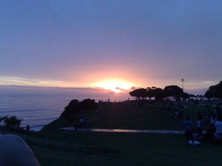Sunset - Malecón de Miraflores, Lima - Perú