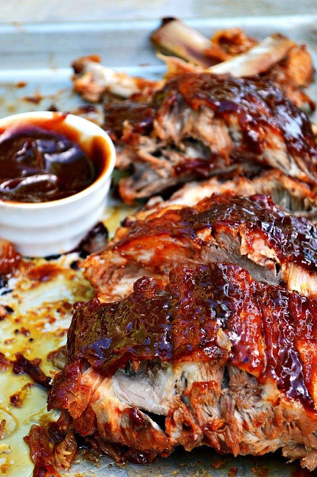 No grill??? No worries! These Oven Baked Barbecue Pork Ribs are about as good as they come; tender, juicy meat slow cooked in the oven and then broiled to perfection.
