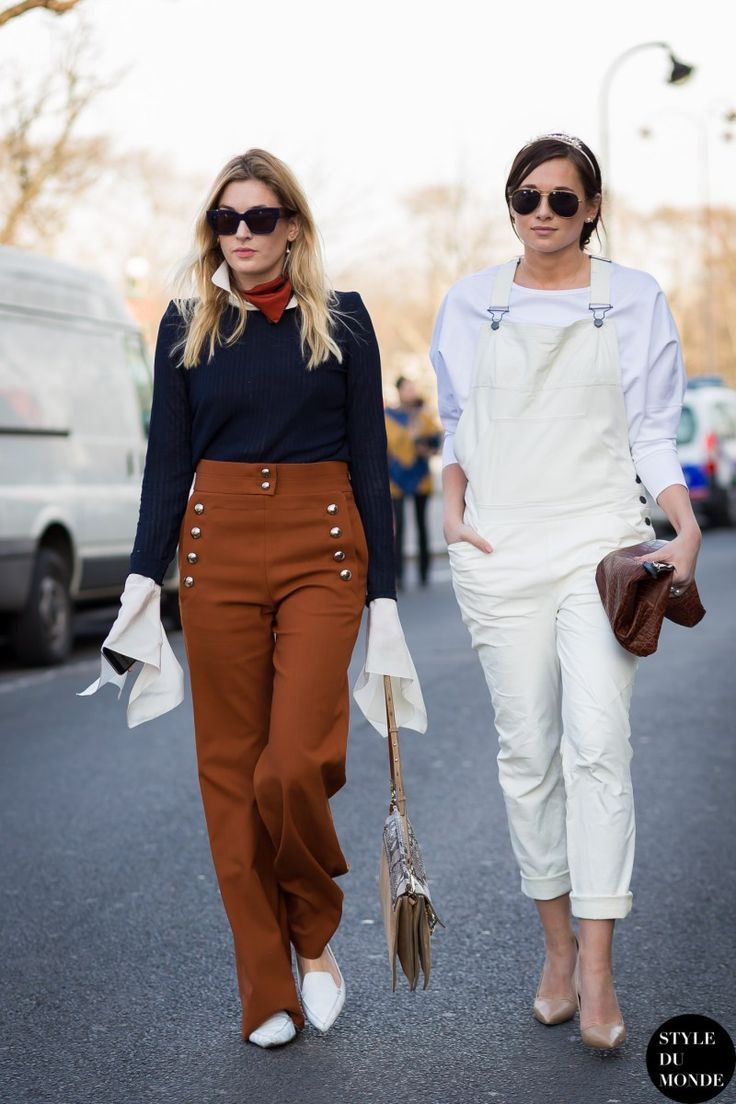 Paris Fashion Week FW 2015 Street Style: Camille Charrière and Danielle Bernstein