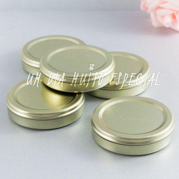 Latinhas Mint to Be Dourada 5cm