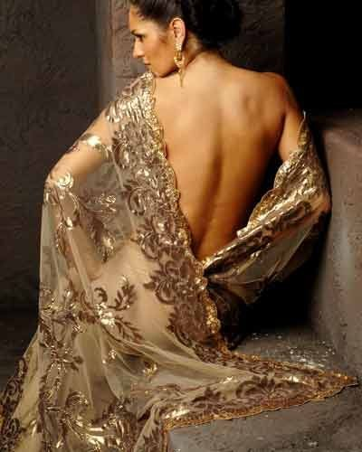 Amazing gold #Saree by Suneet Varma http://www.suneetvarma.in/