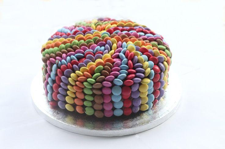 Smarties Chocolate Cake - Mummy Mishaps