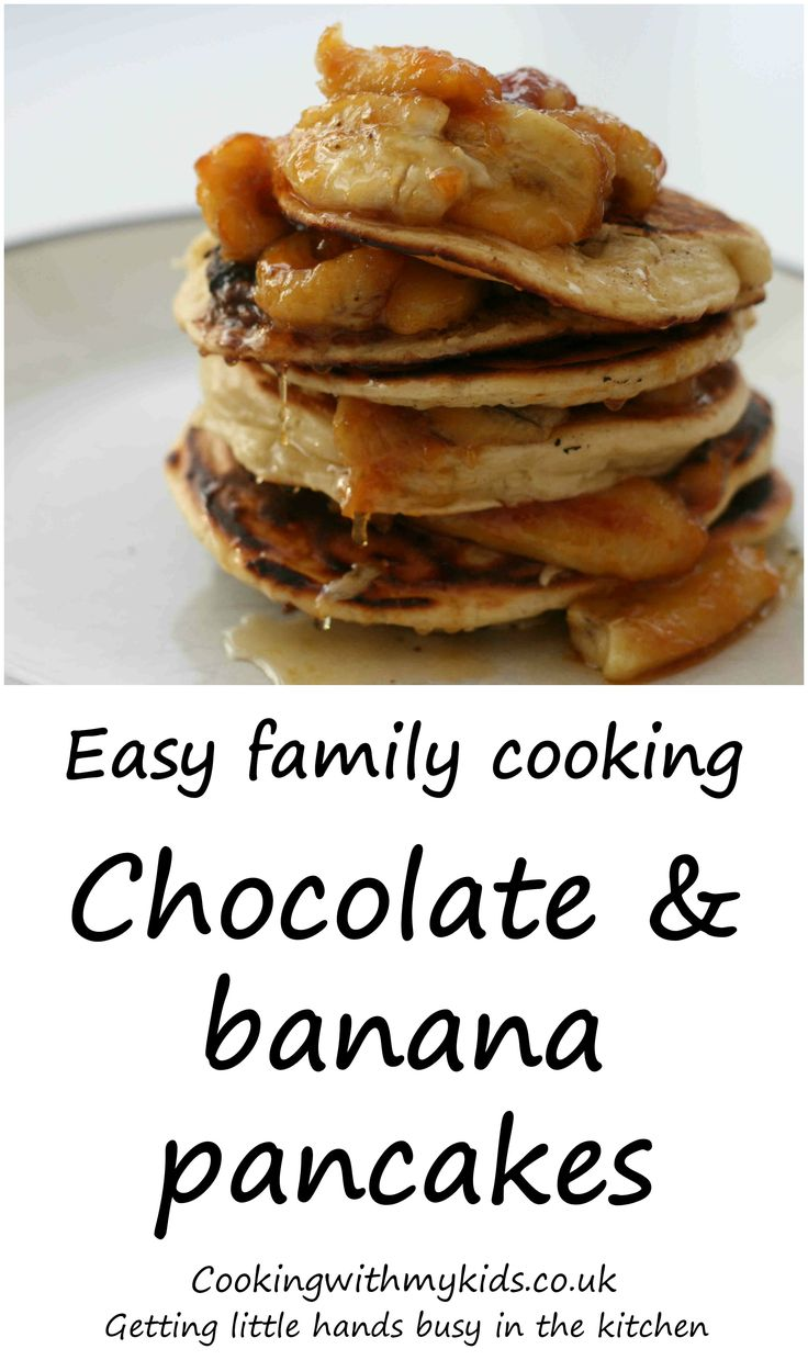 Enjoy pancake day with these delicious chocolate nutella filled pancakes with bananas