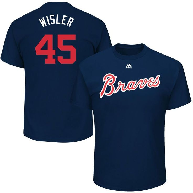 "Matt Wisler ""Wisler"" Atlanta Braves Majestic 2017 Players Weekend Name & Number T-Shirt - Navy"