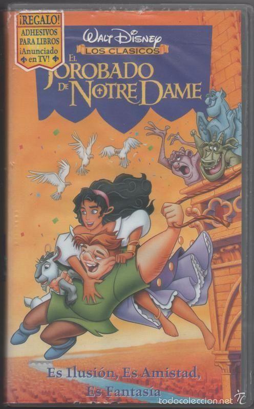 PELÍCULA VÍDEO VHS EL JOROBADO DE NOTRE DAME, S.A. WALT DISNEY (CINE INFANTIL-DIBUJOS ANIMADOS)