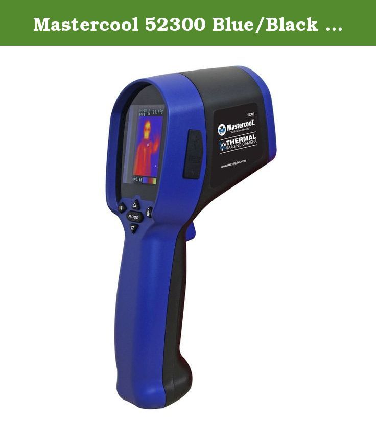 Mastercool 52300 Blue/Black Thermal Imaging Camera. Take temperature measuring to another level... Mastercool's thermal imaging camera can measure from -20 to 250˚C (-4 to 482˚F) and display thermal images and temperature. Thermal images can be saved to a micro SD card and transferred to the software included for image reporting. Automotive Applications: • Tire contact and wear diagnostics • Brake and engine system evaluation for performance and cooling • Rotor temperatures and wear…