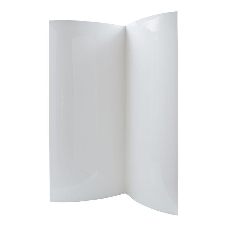 Estilo 90 x 90 x 190cm 3.5mm White Acrylic Shower Wall