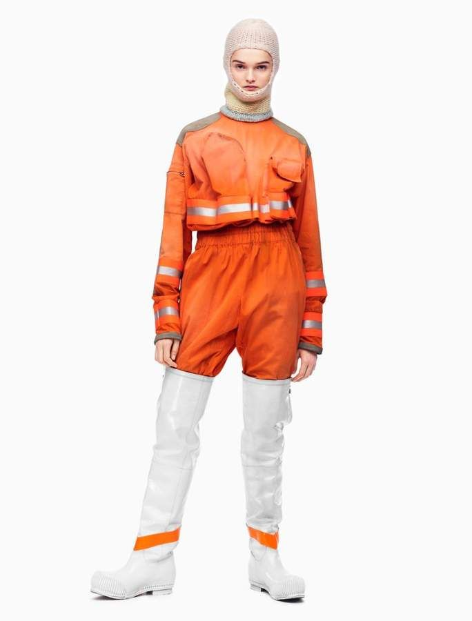 3df759150268 This is for real Calvin Klein! What is going on here. Distressed fireman  jumpsuit