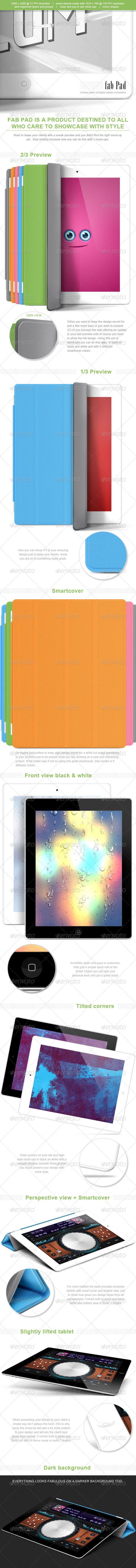 Fab Pad - 19 Digital Tablet Computers Mock-Ups - Mobile Displays