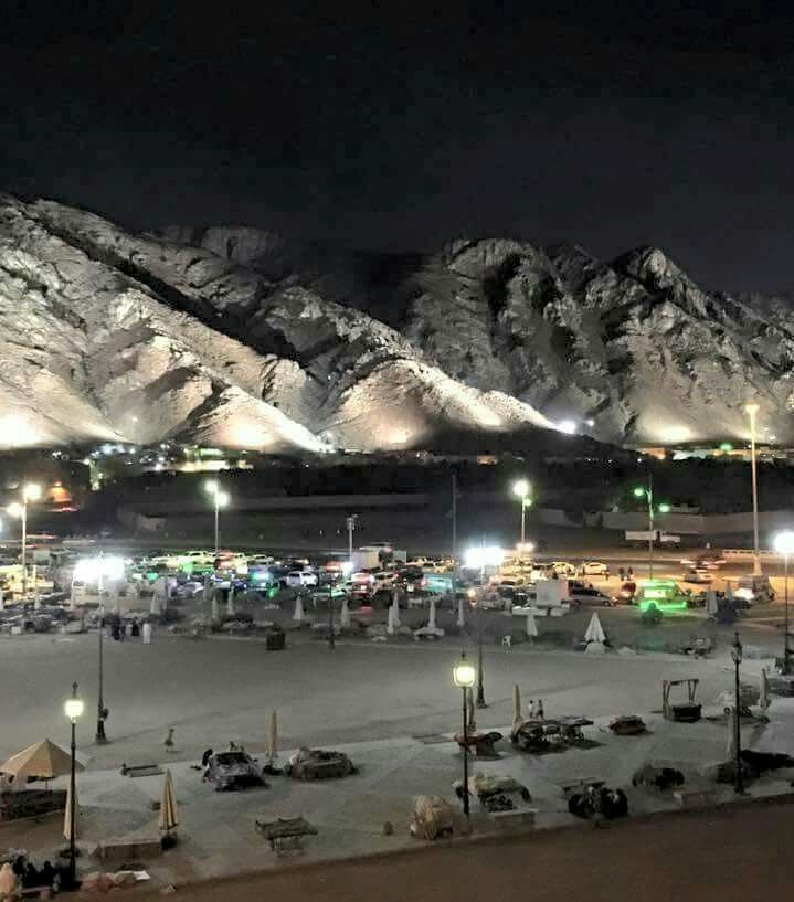 Mt Uhud at night # Mecca