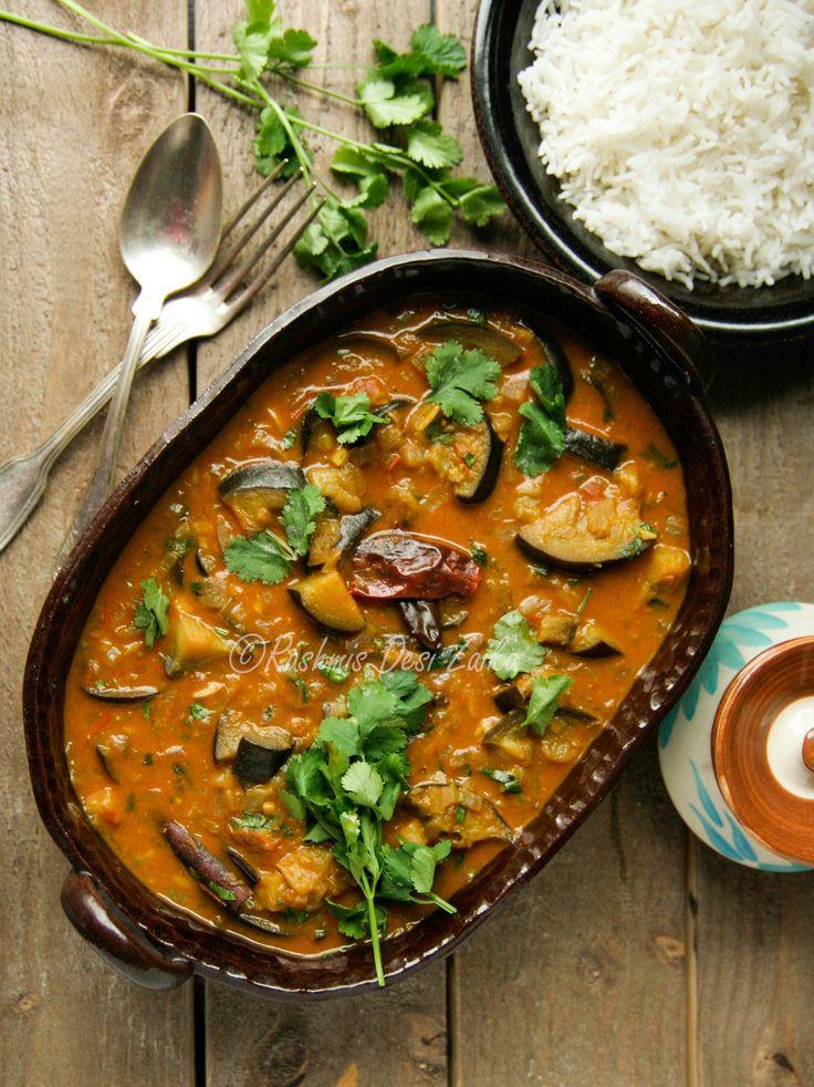 Roasted Eggplant with Whole Spices and Coconut Milk #wholespices #spices #indianfood #delicious #comfortfood #foodphototgraphy #rashmisdesizaika