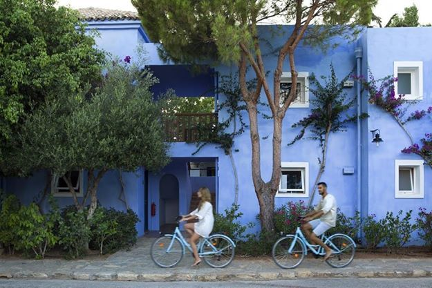 Looking for something different for today? Just pick up a #BlueBike offered free of charge and take a stroll through the Town of #AgiosNikolaos along the seaside! Doesn't it sound like fun?#CandiaPark #Crete