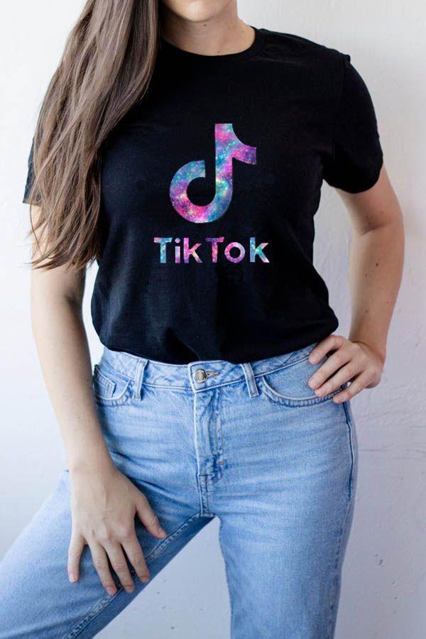 Tiktok Shirt Galaxy Tiktok Gift Aesthetic Clothes Women T Shirts For Women