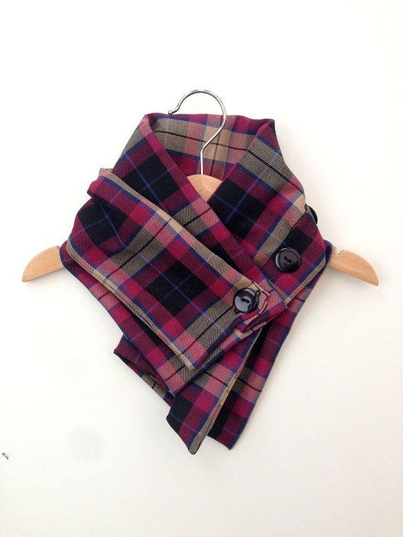 Baby scarf, toddler scarf, plaid scarf, toddler neckwarmer, toddler gift UK, kids plaid scarf, purple brown and black on Etsy, $20.12