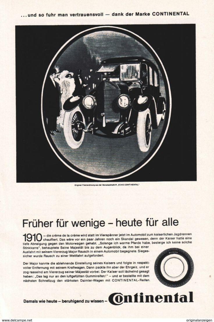 Werbung - Original-Werbung/ Anzeige 1971 - CONTINENTAL REIFEN - ca. 160 x 230 mm