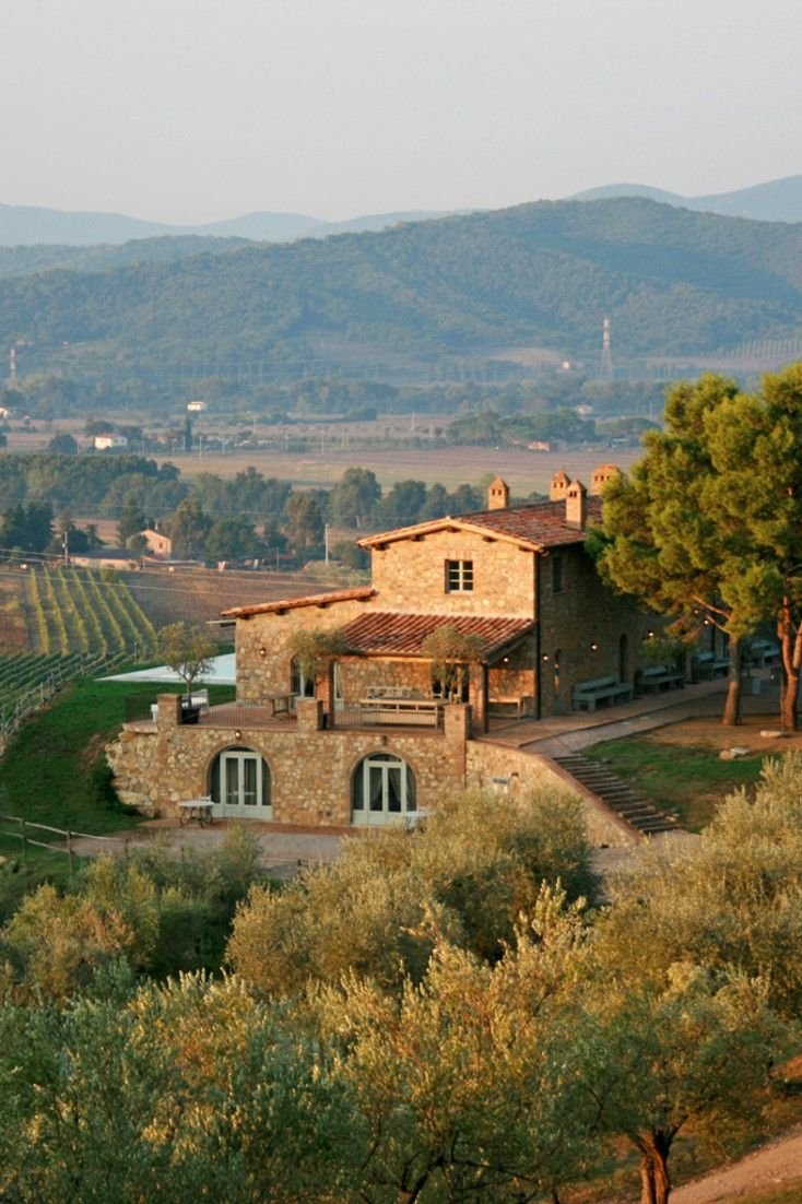 The secluded Conti di San Bonifacio sits atop a hill overlooking the unspoiled Tuscan Maremma. #Jetsetter
