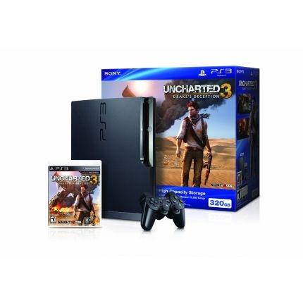 Sony Playstation 3 Bundle W/Uncharted 3: Drake's Deception