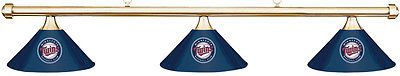 Table Lights and Lamps 75189: Mlb Minnesota Twins Blue Metal Shade And Brass Bar Billiard Pool Table Light BUY IT NOW ONLY: $319.99