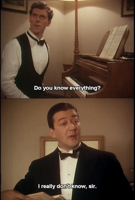 Jeeves & Wooster // Another reason why this is one of the best shows ever. (And bowties!!!)
