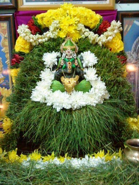 Durva Ganapati Vrat is dedicated to Lord Ganapati. This vrat is observed on Chaturthi day in Shravan Month in Maharastra,karnataka & Gujarat. 'Durva' means a type of grass blades. Lord Ganesh is worshipped with Durva grass blades on this day & special Modakam is offered.  #DurvaGanapatiVrat #Vrat #LordGanapati #Durva #LordGanesha