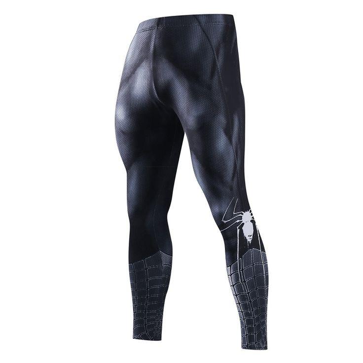 Skinny pantalons de Survêtement Pour Hommes Compression Pantalon Hommes De Mode Leggings Hommes Jogger Hommes 3D Fitness Pantalon Superman ElasticTrousers