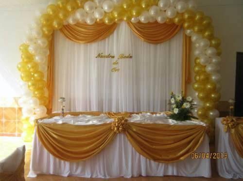Pasteles para boda el globo buscar con google gold and for Decoracion en telas y globos para 15 anos