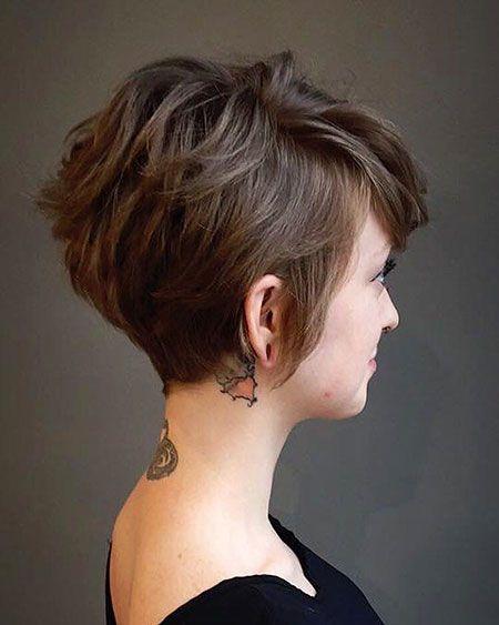 10 kurze braune Frisuren mit Fizz, kurze Haarschnitt-Ideen