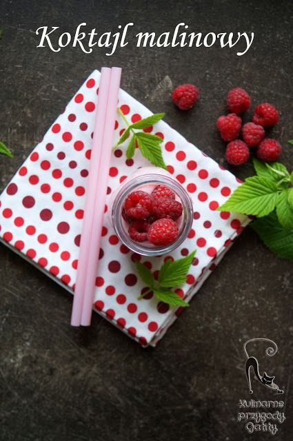 Kulinarne przygody Gatity: Koktajl malinowo-jogurtowy