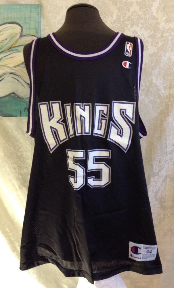 43355d35 Vintage Jason Williams #55 Kings Champion Jersey SIZE 44 Large Rare Purple  Black | eBay