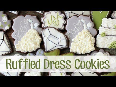 LilaLoa: Cómo hacer adornados con volantes vestido de boda de las galletas