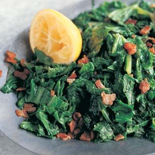Braised Mustard Greens with Pancetta and Lemon For the Recipe, click ...