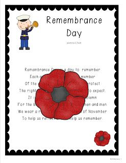 Grade One Snapshots: Remembrance Day activities for early primary $ worth it