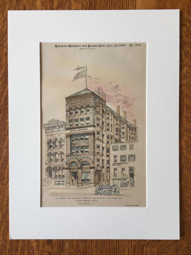 National Union Insurance, 918 F Street NW, Washington DC, 1890, Original x