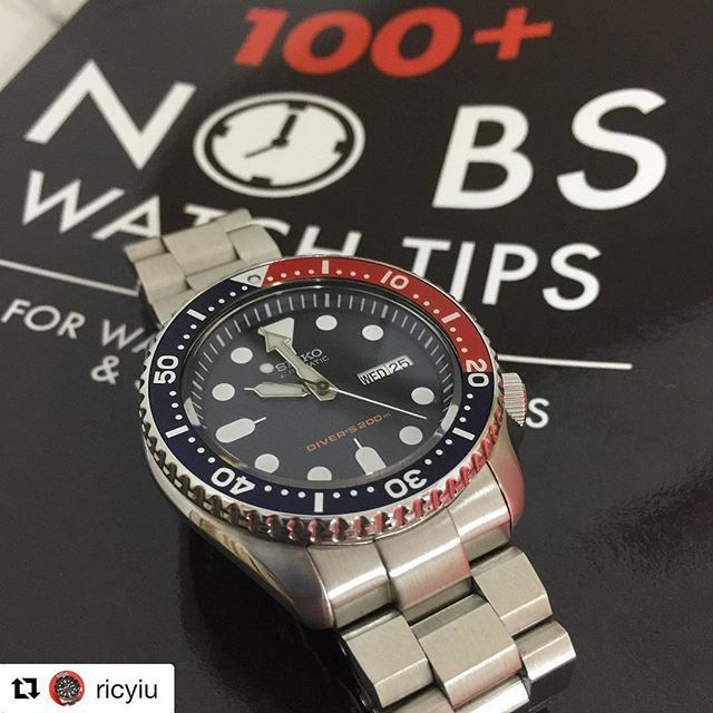 Regram from mate @ricyiu 's #MiLTAT Hexad Oyster bracelet with his Seiko #SKX009 #strapcode #strapcodefeaturing