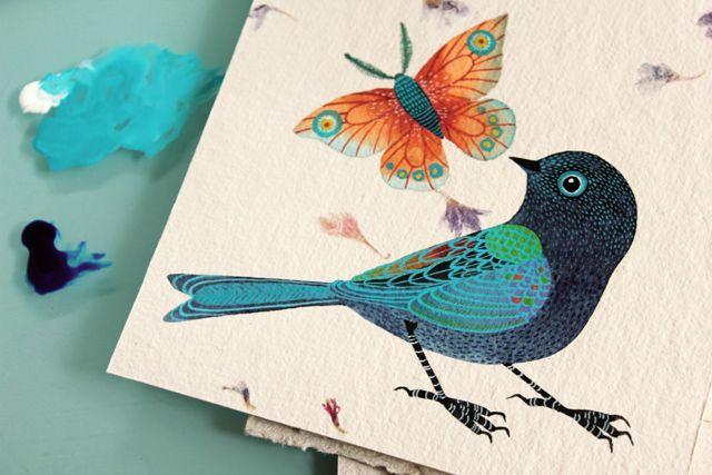Inspiradora ilustradora mexicana. Me encanta su trabajo y sobre todo sus delicadas series de pájaros. Si necesitas que te despierten la ima...