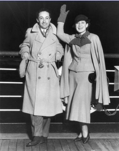 Norma Shearer and Irving Thalberg -  Feb 1933 in Los Angeles California